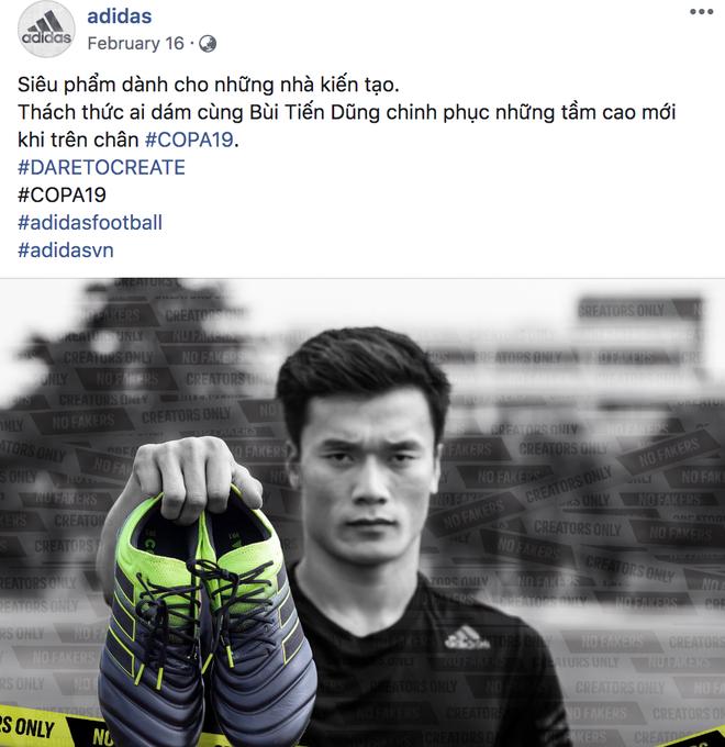 Làm KOL duyên như Bùi Tiến Dũng: đang hợp tác với adidas nhưng khoe ảnh đi Nike rồi xóa logo lem nhem - Hình 1