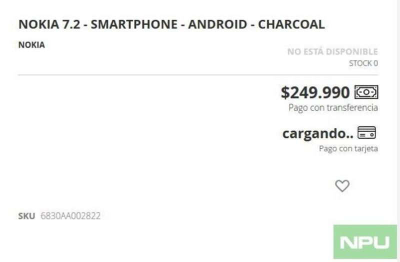 Nhà bán lẻ tại Chile hé lộ giá bán của Nokia 7.2 - Hình 1