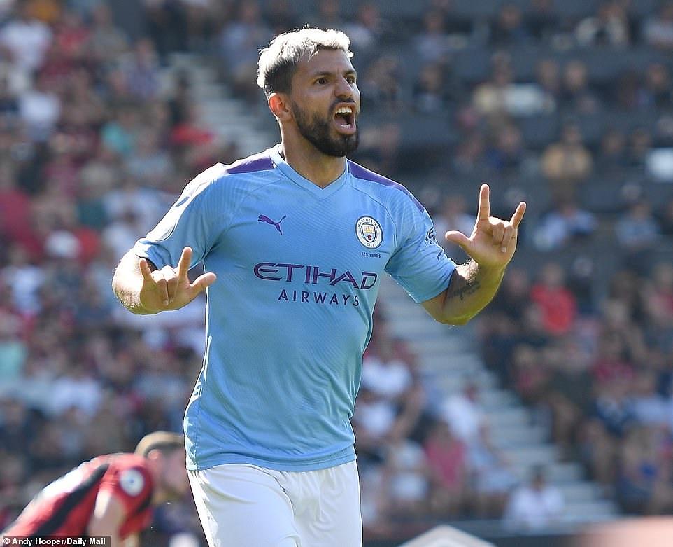 Sergio Aguero lập cú đúp, Man City đè bẹp Bournemouth - Hình 1