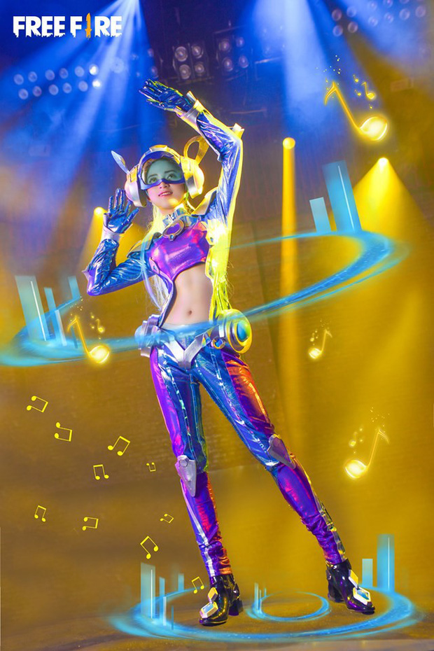 Chiêm ngưỡng bộ cosplay DJ Quẩy siêu đẹp của tựa game sinh tồn Garena Free Fire - Hình 7