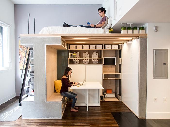 10 căn hộ nhỏ có ý tưởng thiết kế hiện đại lại siêu thông minh ai nhìn cũng thích - Hình 3