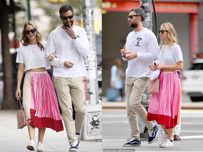 Jennifer Lawrence quấn quýt bên bạn trai trên phố - Hình 1