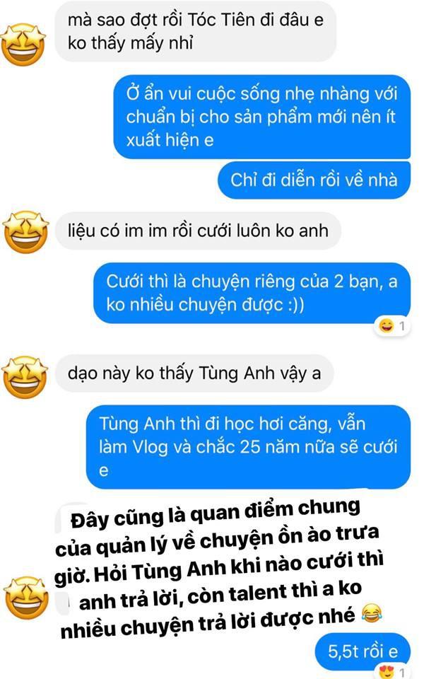 Quản lý lên tiếng về chuyện cưới xin của Tóc Tiên với Hoàng Touliver sau khi cặp đôi xác nhận đã yêu nhau 4 năm - Hình 3