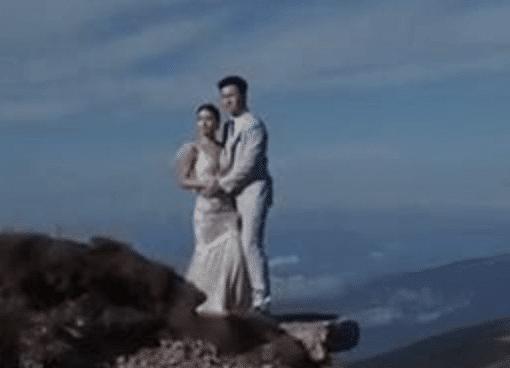 Sao Thiên long bát bộ và chồng đại gia chụp ảnh cưới bên vách núi - Hình 2