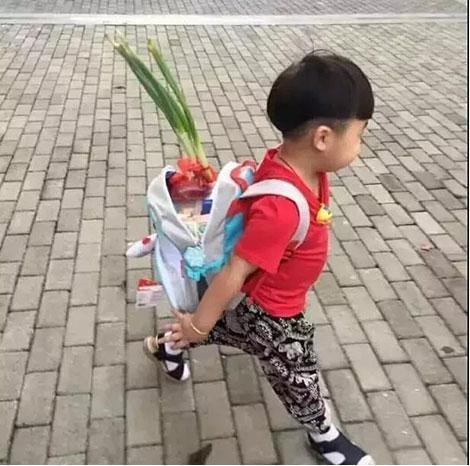 Bắt gặp học sinh bỏ củ hành lá vào cặp trong ngày đầu tiên đến trường, cư dân mạng thích thú trước ý nghĩa của phong tục hiếm có khó tìm này - Hình 3