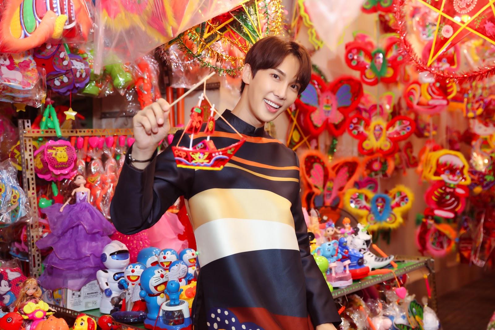 Hari Won và Park Jung Min khiến fan 'bấn loạn' khi diện áo dài đôi chụp ảnh Trung Thu - Hình 9