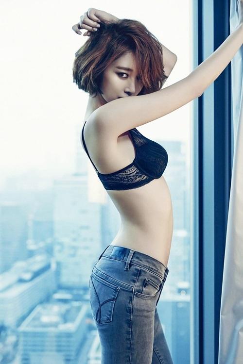 Hình thể của Nữ hoàng tóc ngắn Hàn Quốc - Hình 2