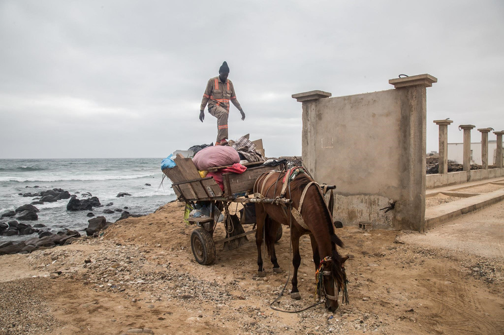 Motor hiện đại đối đầu xe ngựa kéo một thời vang bóng ở Senegal - Hình 1