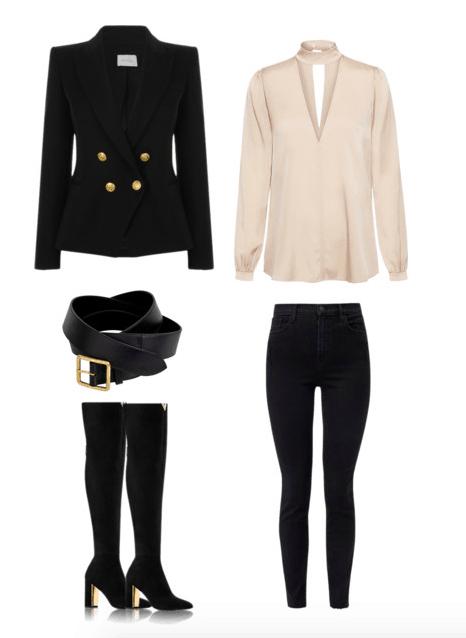 Áo blazer, sơ mi lụa, giày loafer: Gợi ý 7 kiểu mix đồ style Pháp cho mùa thu - Hình 6