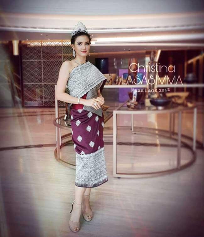Choáng với phong cách phóng khoáng, gợi cảm của Hoa hậu đẹp nhất lịch sử Lào - Hình 16