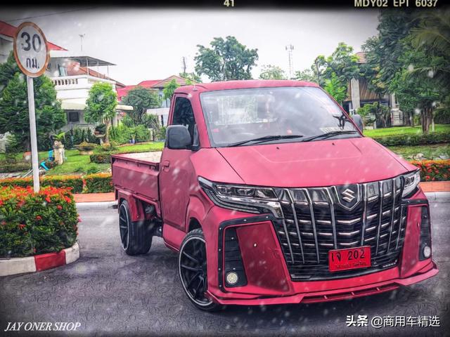 Dân chơi độ bán tải Suzuki Carry sang phong cách 'chuyên cơ mặt đất' Toyota Alphard - Hình 1