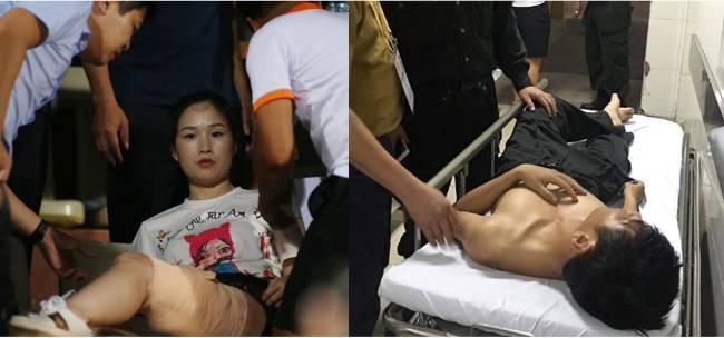 Dân mạng khoanh vùng nam thanh niên nghi đốt pháo sáng khiến một phụ nữ bị thương tại sân Hàng Đẫy - Hình 1
