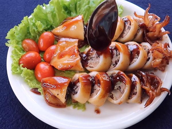 Món ngon mỗi ngày: Cách làm mực nhồi thịt rim nước dừa thơm nức mũi - Hình 7