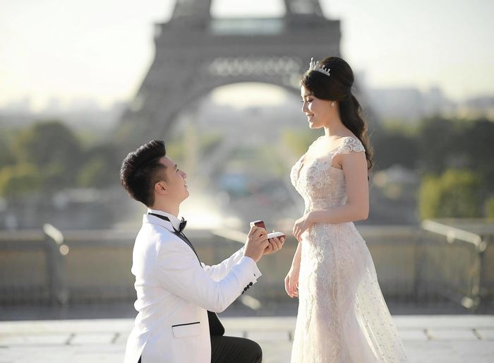 Nữ giảng viên gợi cảm Âu Hà My tổ chức lễ dạm hỏi với bạn trai doanh nhân sau màn cầu hôn hoành tráng ở Pháp - Hình 2