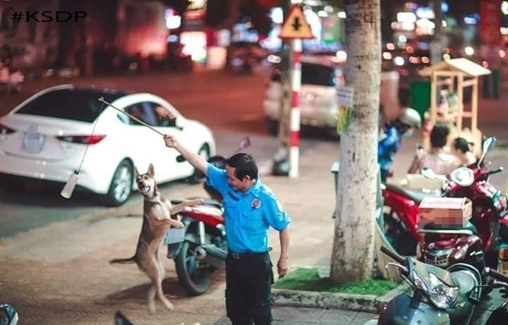 Bác bảo vệ nhận nuôi em cún từ khi còn bé tí: Đi cùng đi, ăn cùng ăn! - Hình 1