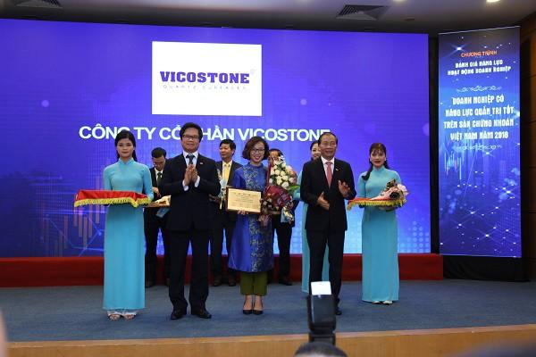 Vicostone được vinh danh Top 10 doanh nghiệp quản trị tốt nhất Việt Nam - Hình 1