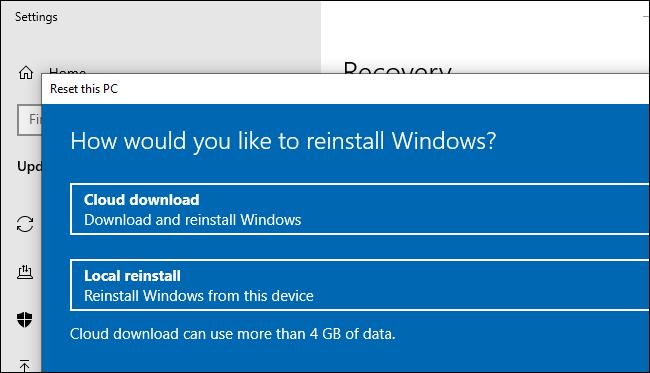 Microsoft giải thích phương thức hoạt động của tính năng cài lại Win qua đám mây trên Windows 10 - Hình 2