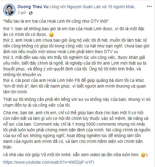 Bị cho hám fame 'nổi tiếng nhờ là em trai Hoài Linh', Dương Triệu Vũ đáp trả anti-fan cực gắt - Hình 2