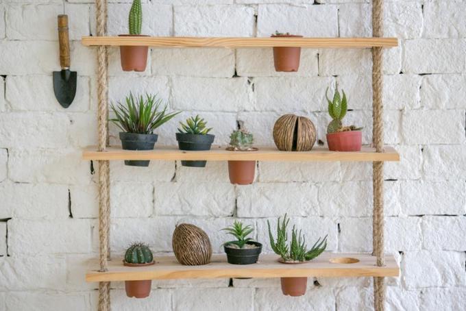 15 ý tưởng làm vườn treo trong nhà - Hình 2
