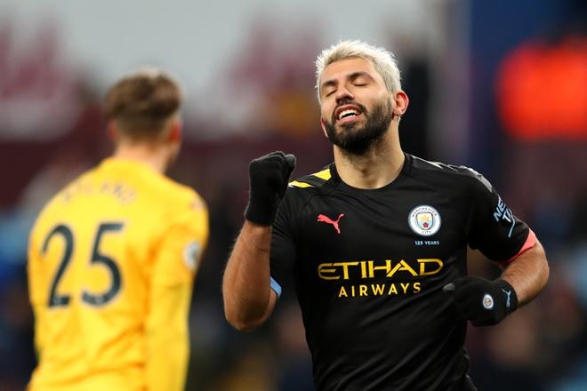 Aguero lập nhiều kỷ lục sau hat-trick giúp Man City thắng 6-1 - Hình 1