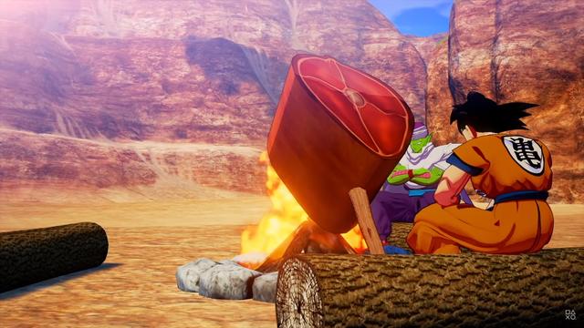 Bất ngờ với gameplay của Dragon Ball Z: Kakarot - Săn thú, nướng thị như ARK - Hình 1