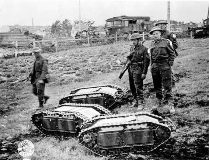Giật mình vũ khí bọ hung mang 100 kg thuốc nổ của phát xít Đức - Hình 1