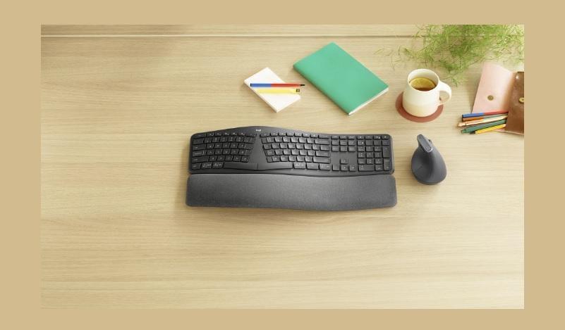 Logitech ra mắt bàn phím công thái học ERGO K860: trợ lực cổ tay tốt hơn 54%, kê tay 3 lớp, pin xài 2 năm - Hình 1
