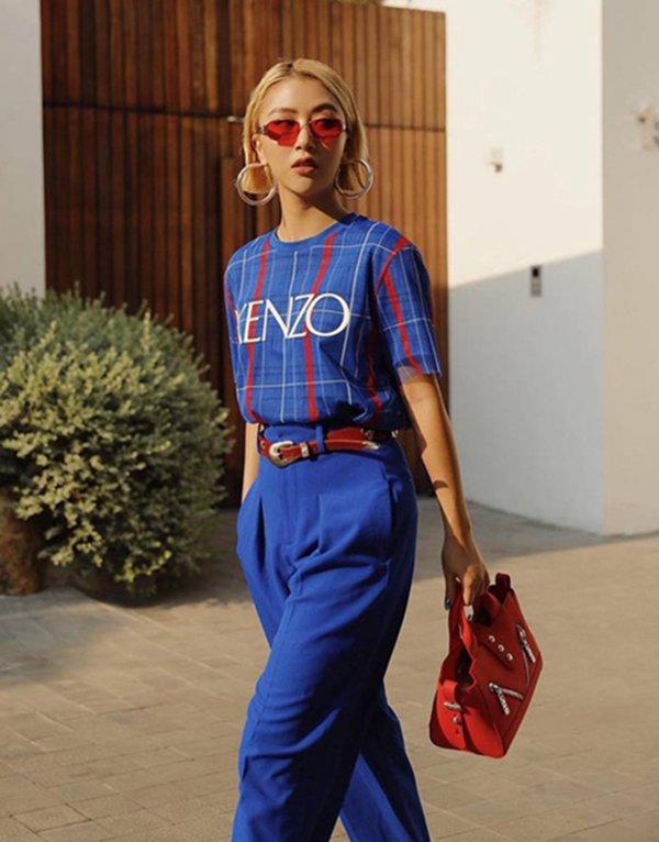 Nhàm chán với sắc đỏ ngày Tết, đừng ngại phá cách với trang phục tông xanh cổ điển hot trend - Hình 4