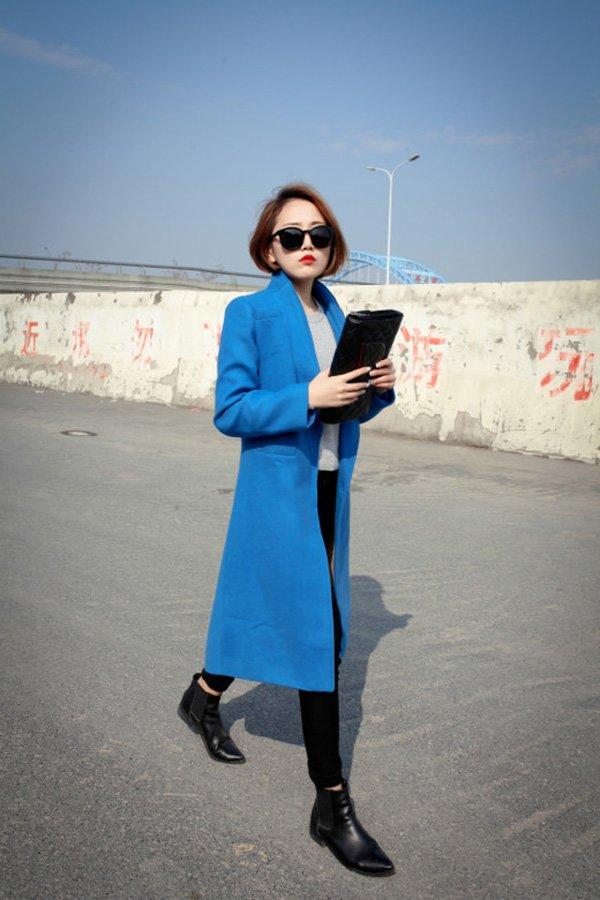 Nhàm chán với sắc đỏ ngày Tết, đừng ngại phá cách với trang phục tông xanh cổ điển hot trend - Hình 6