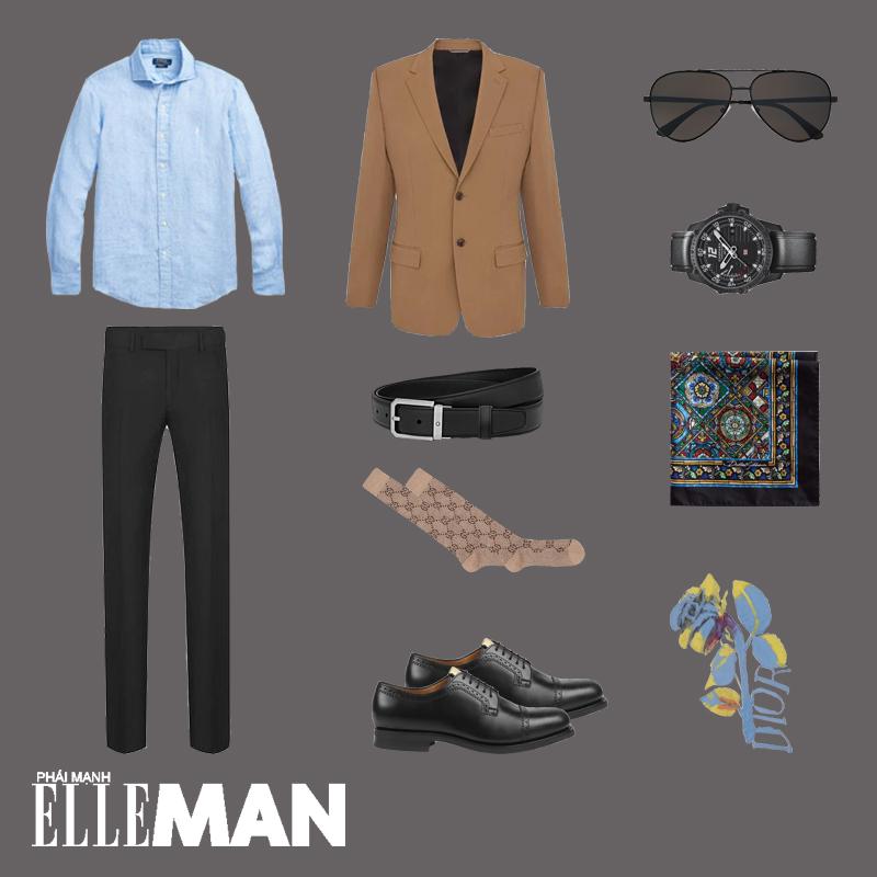 ELLE Man Style Calendar: Đổi mới tủ đồ Xuân với áo sơ mi chambray - Hình 17