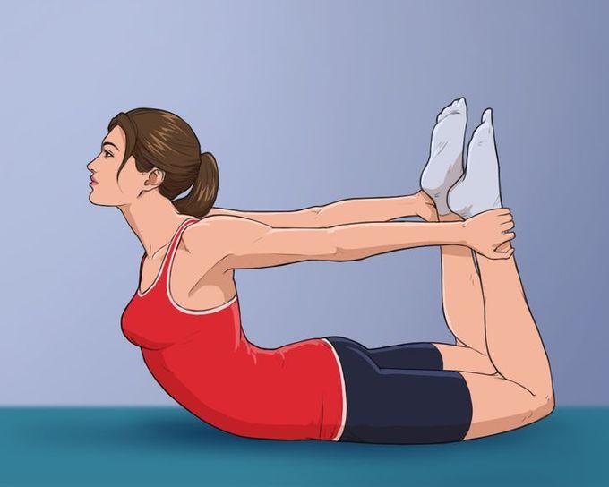 10 tư thế yoga giúp giảm đau lưng, triệt tiêu mỡ lườn - Hình 2