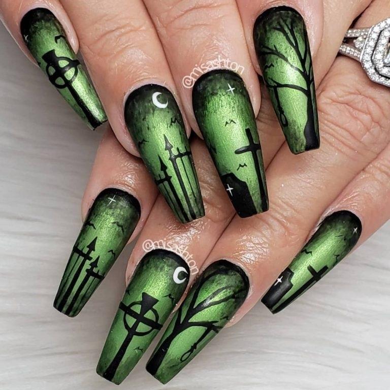 15 mẫu sơn móng tay độc đáo cho ngày Halloween - Hình 12