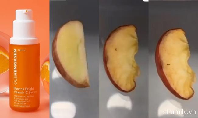 Thử khả năng chống oxy hoá của 4 lọ serum Vitamin C: Nhìn cái kết sau 24 tiếng bôi serum lên miếng táo mới thấy bất ngờ - Hình 1