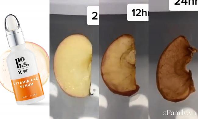 Thử khả năng chống oxy hoá của 4 lọ serum Vitamin C: Nhìn cái kết sau 24 tiếng bôi serum lên miếng táo mới thấy bất ngờ - Hình 2