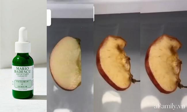 Thử khả năng chống oxy hoá của 4 lọ serum Vitamin C: Nhìn cái kết sau 24 tiếng bôi serum lên miếng táo mới thấy bất ngờ - Hình 3