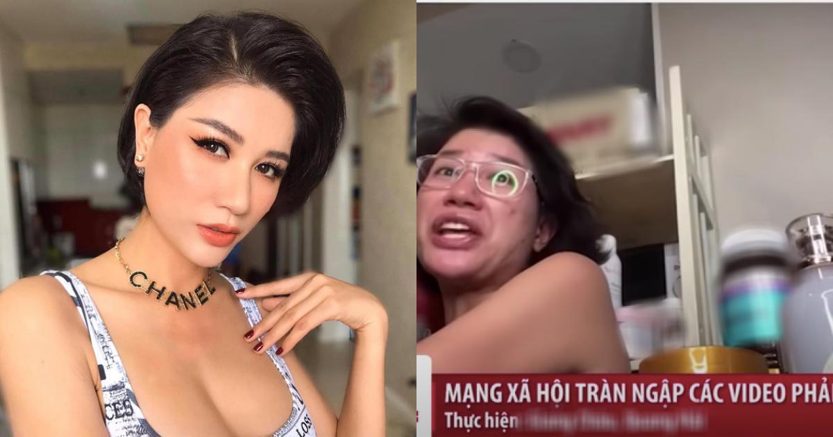 Hình ảnh Trang Trần livestream bán hàng online với ngôn từ phản cảm bị đưa lên sóng truyền hình, netizen lên án gay gắt