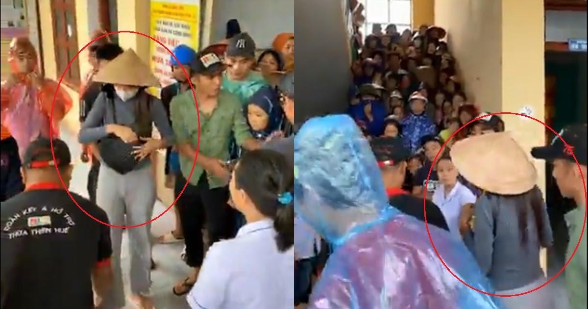 Mới nhất: Thủy Tiên mặc lại đồ cũ đi Quảng Bình, phát tiền, sữa và mì gói cho người dân tay không thoát khỏi dòng nước lũ nguy hiểm