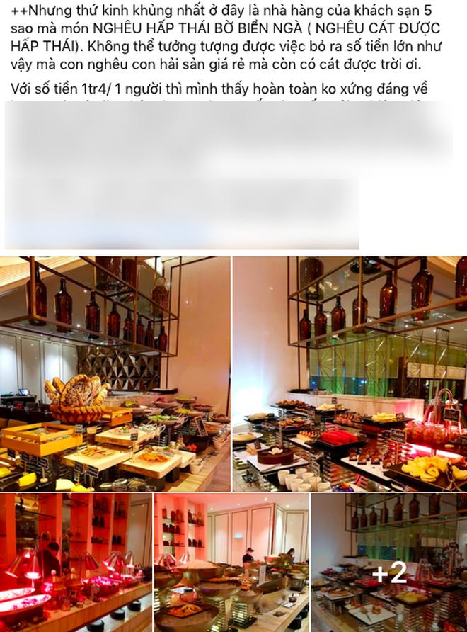 SỐC: Khách review buffet không ưng ý, nhân viên khách sạn 5 sao ở Sài Gòn mỉa mai 1tr4 to quá, ăn 140k ở chợ Bến Thành còn hơn đó - Hình 2