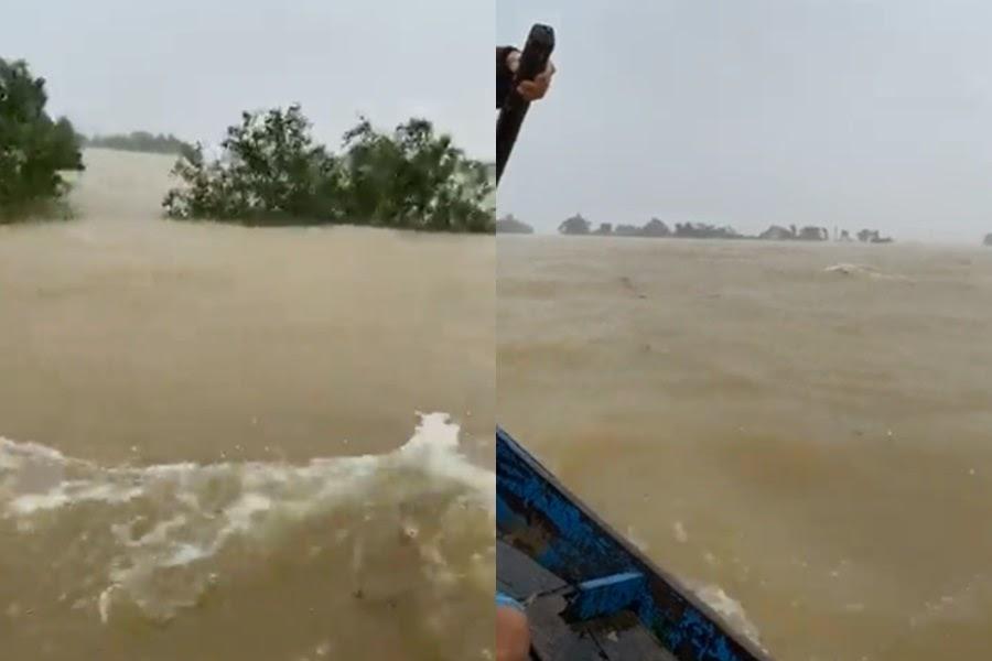 Thủy Tiên hoảng loạn: Quảng Bình lụt thành biển, tiếp cận nhà dân cứu được 2 em bé mắc kẹt - Hình 6