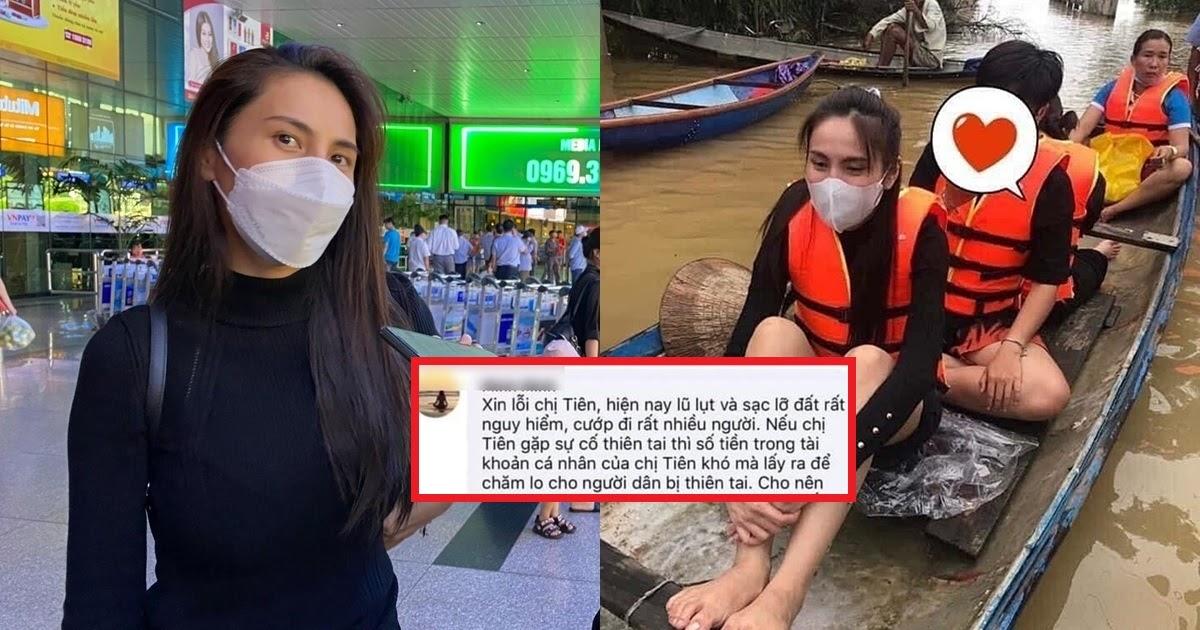 """Phẫn nộ antifan """"khẩu nghiệp"""" nói gở Thủy Tiên gặp nạn khi đi cứu trợ, nữ ca sĩ đáp trả: """"Chị mà có gì thì còn anh Vinh"""""""