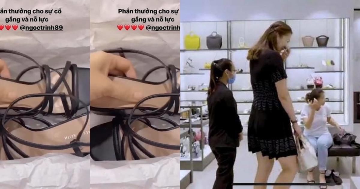 Ngọc Trinh cho Thúy Kiều đeo túi hiệu 2,8 tỷ, dẫn đi mua sắm cuối tuần