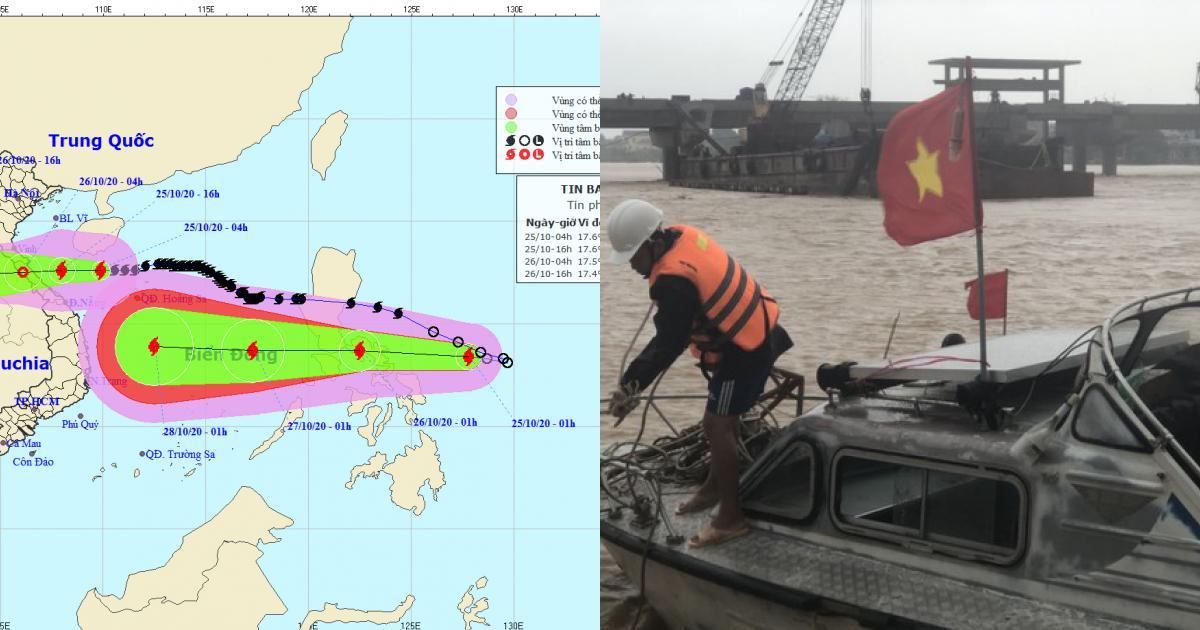Bão số 8 đổ bộ đêm nay, bão số 9 vào Biển Đông đêm mai