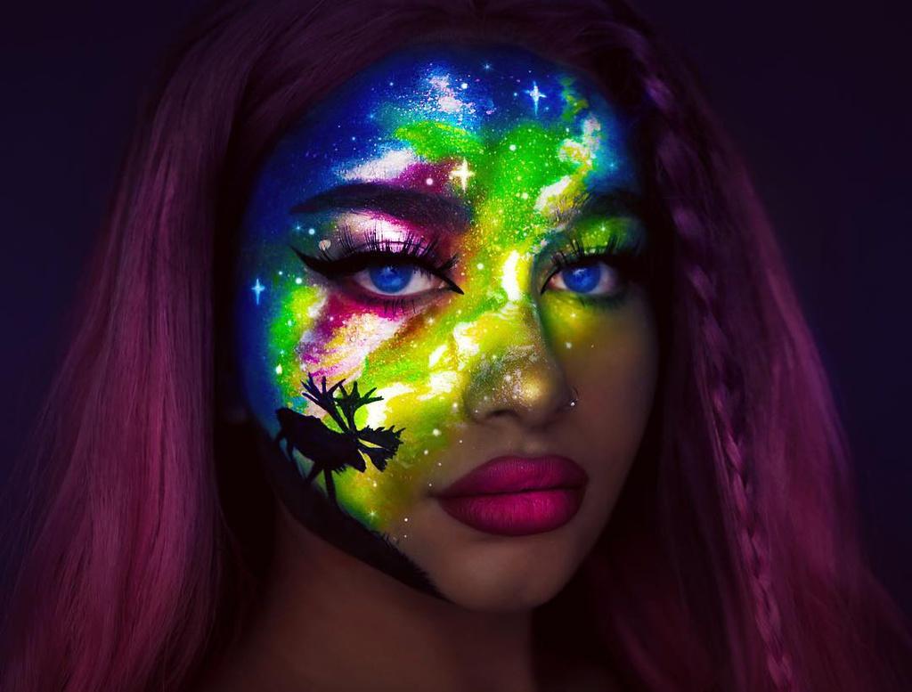 Cô gái nổi tiếng với tài trang điểm bằng sơn UV - Hình 8