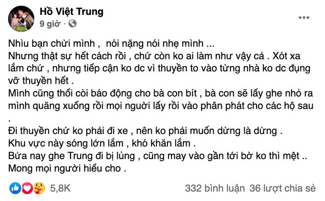 Đi từ thiện miền Trung bị soi làm răng sứ, Hồ Việt Trung tức giận: Để nhổ hết cho mấy ba, mấy má vừa lòng - Hình 2
