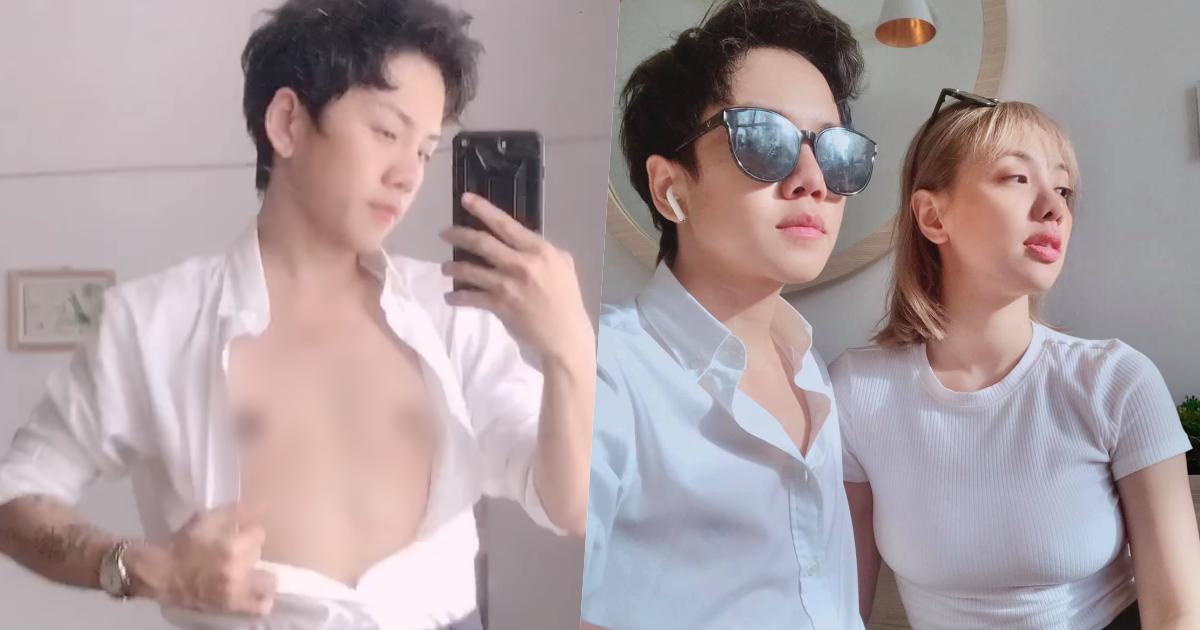 Bạn trai chuyển giới của Miko Lan Trinh tự tin khoe vòng 1 sau khi cắt bỏ