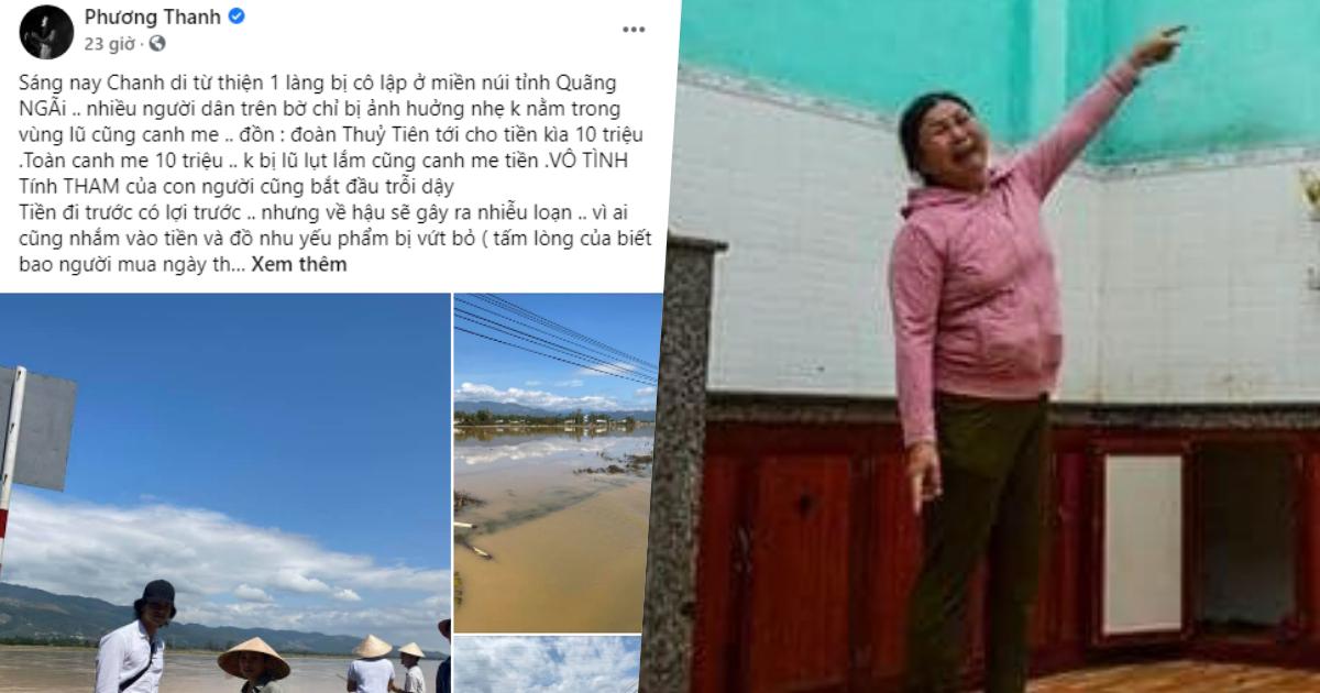 Dân Quảng Ngãi bức xúc trước bài đăng của Phương Thanh: 'Quê tôi nghèo thật nhưng không tham như chị nói, người buôn ve chai nhặt được trăm triệu còn trả lại'