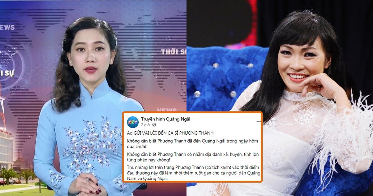 """Truyền hình Quảng Ngãi chính thức lên tiếng sau phát ngôn của Phương Thanh: """"Những lời nói đã làm nhói thêm ruột gan cho người dân"""""""