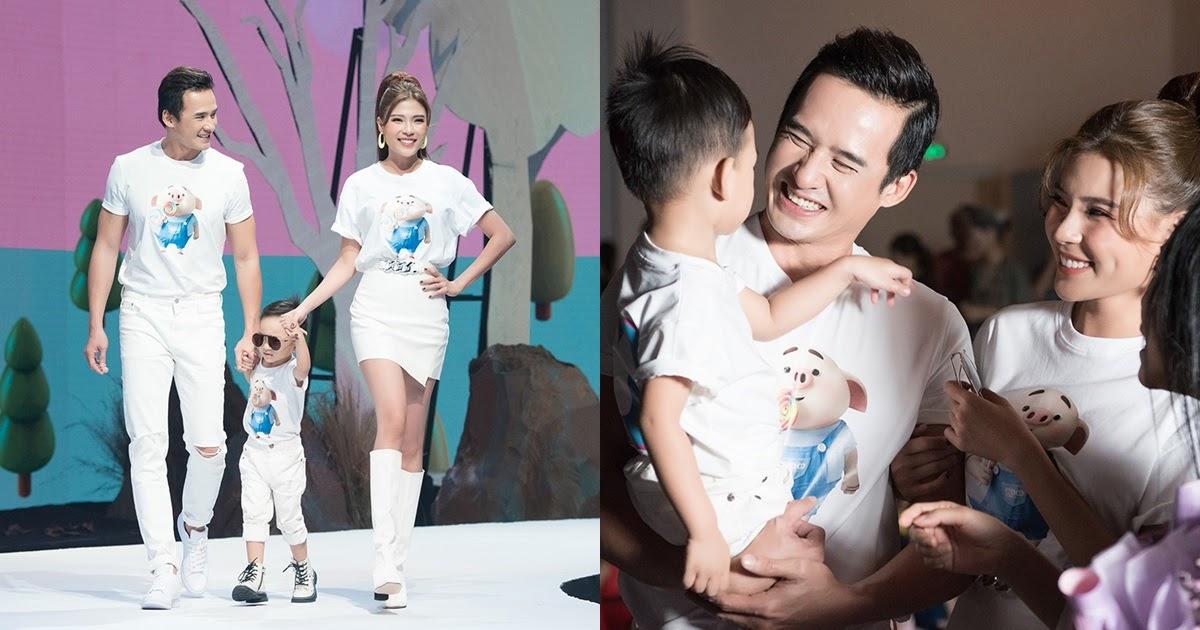 Con trai hơn 2 tuổi của Lương Thế Thành – Thúy Diễm cùng bố mẹ trình diễn thời trang