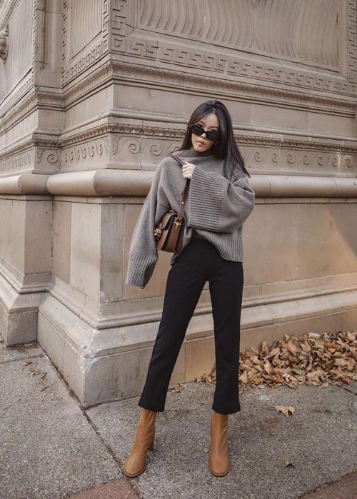 Phối áo len dạo phố - Hình 3