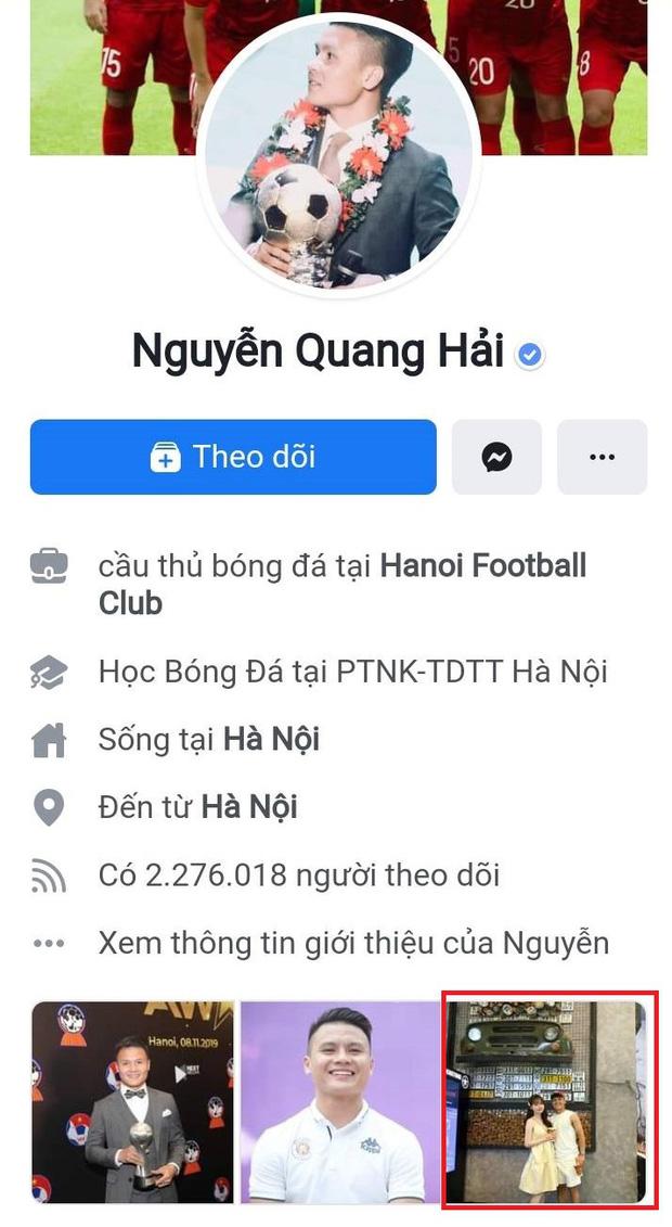 1 tuần sau scandal cắm sừng, Quang Hải đặt lại ảnh Huỳnh Anh ở mục đáng chú ý trên Facebook - Hình 1